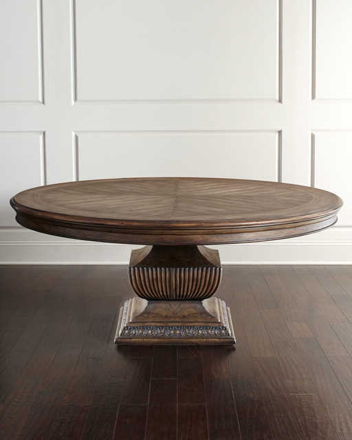 Donabella 72 Round Dining Table PECAN Contemporary Dining Tables