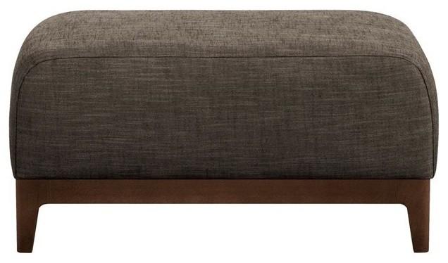 pouf fixe malcom toile viscose lin design e gall contemporain repose pieds pouf et cube. Black Bedroom Furniture Sets. Home Design Ideas