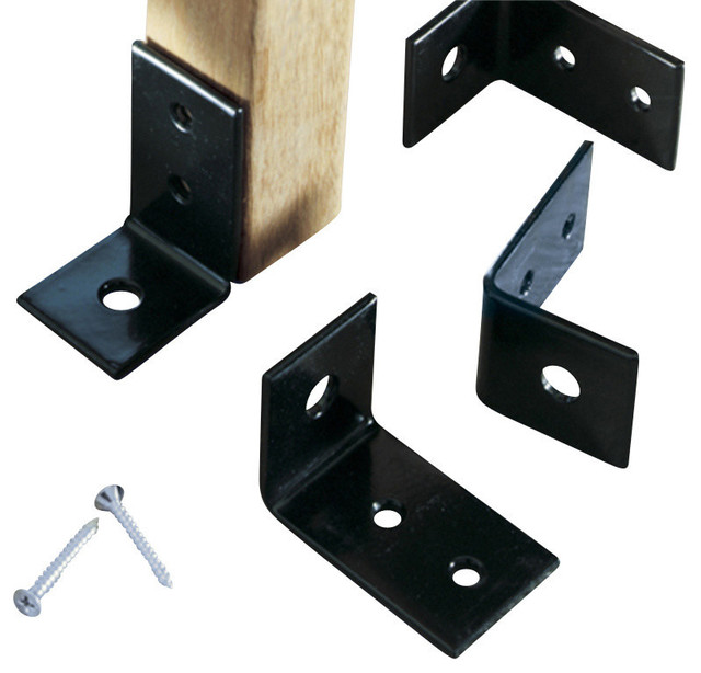 Powder Coated Bench Anchors (Includes 4) - Modern - Brackets - by Design Public
