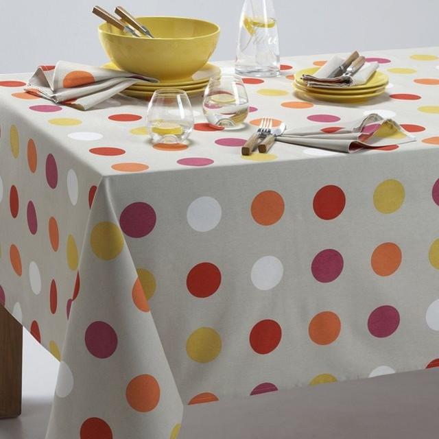 nappe polycoton pop dots contemporain nappe par la redoute int rieurs. Black Bedroom Furniture Sets. Home Design Ideas