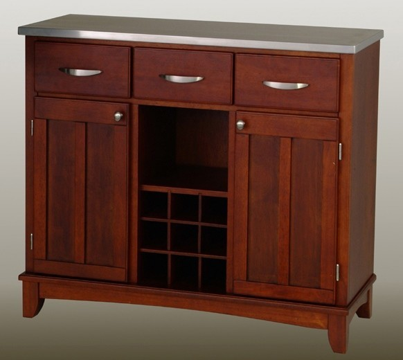 Two tone buffet in cherry finish contemporary buffets