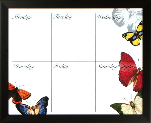 Butterfly Weekly Calendar Board - Eclectic - Bulletin Boards And Chalkboards - by PTM IMAGES