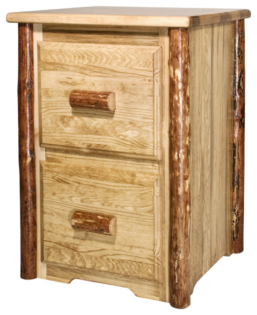 Glacier Country File Cabinet, 2 Drawer, Glacier - Modern - Desks And Hutches