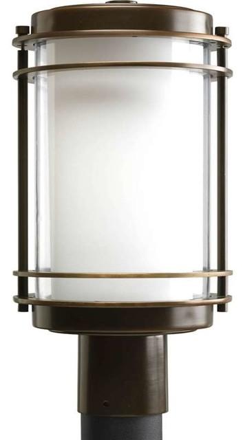 Progress lighting p5472 108 penfield 1 light outdoor post for Contemporary outdoor post light fixtures