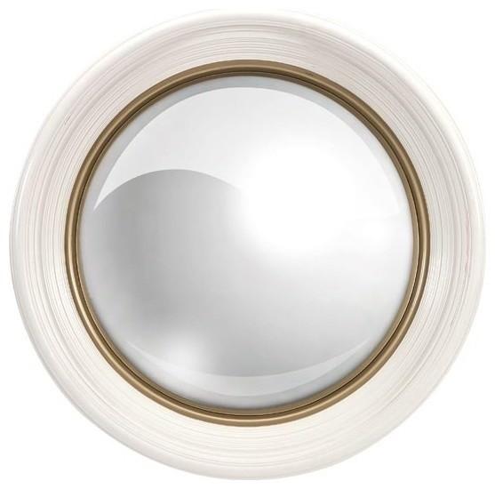 Manning white round mirror modern wall mirrors by for White round wall mirror