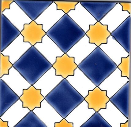 almeria bleu moroccan ceramic tile m diterran en carrelage sol et mur par beltile. Black Bedroom Furniture Sets. Home Design Ideas