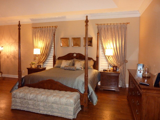 elegant bedroom traditional window treatments tampa by curtain