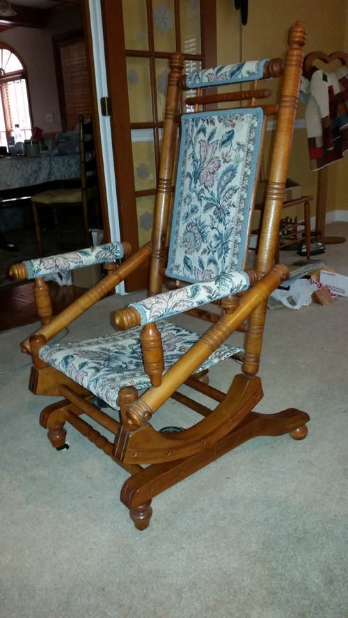 Need Help To Identify Rocking Chair on Home Decorating With Antique Furniture
