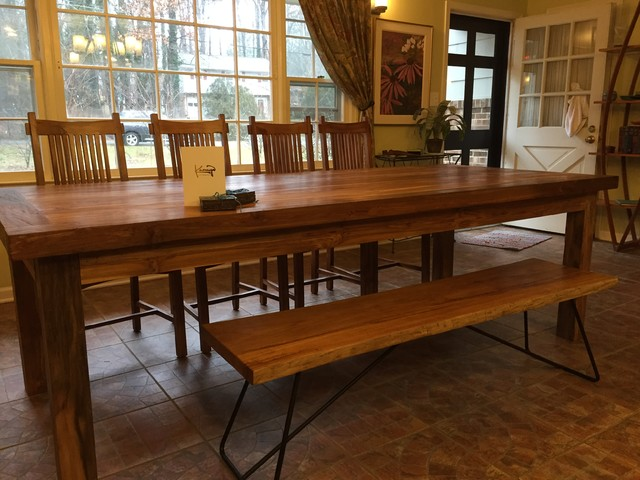 Teak Dining Set In Durham Traditional Dining Room Raleigh By Kamiya F