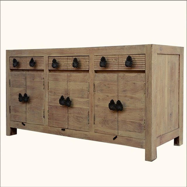 Black Wood Buffets ~ Santa fe black orchid reclaimed wood cabinet sideboard