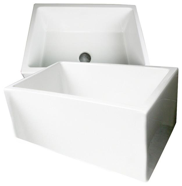 ... Sinks Fireclay 24 Farmhouse Apron Sink contemporary-kitchen-sinks