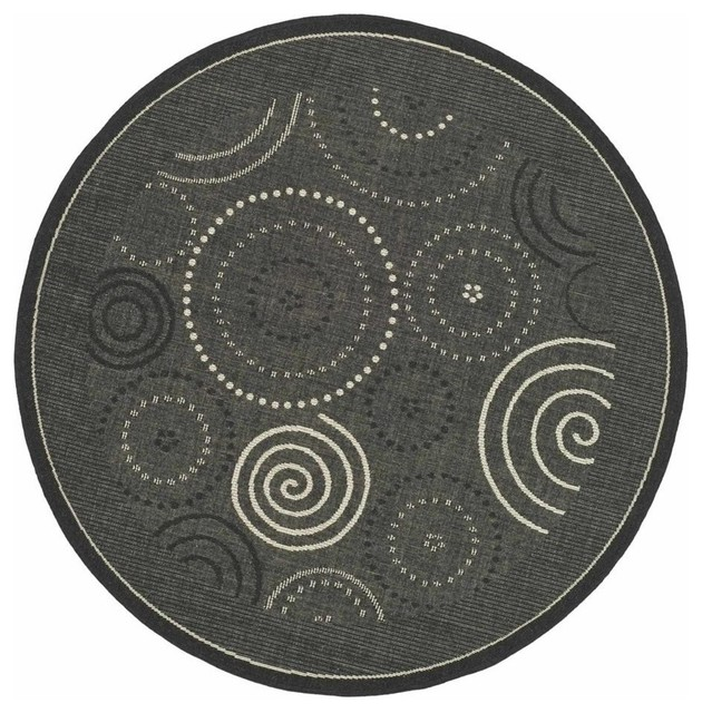 round rug in black 5 39 3 contemporary area rugs by