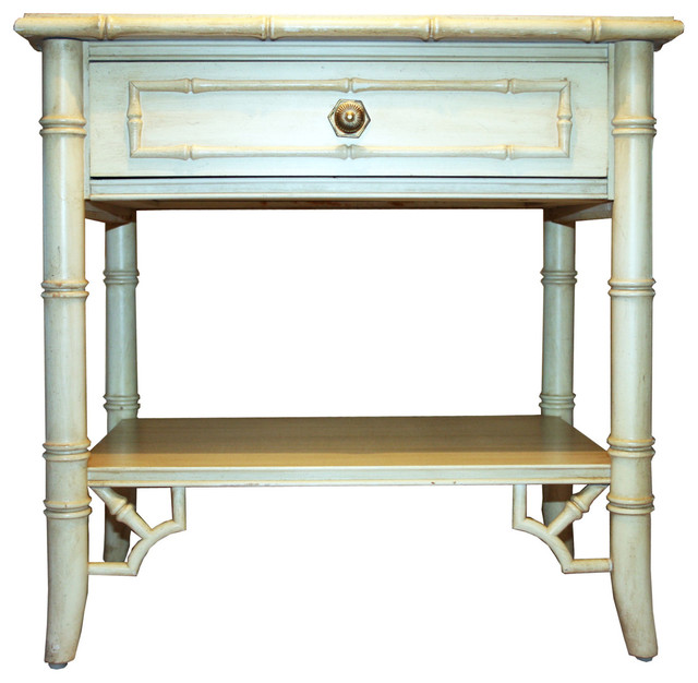 Vintage Allegro Faux-Bamboo Nightstand By Thomasville