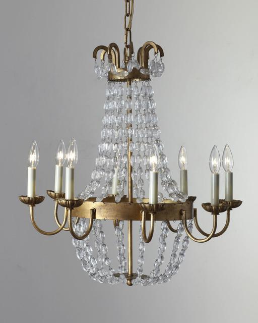 paris flea market eight light chandelier contemporary