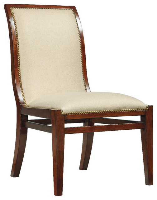 Traditional Upholstered Dining Chairs ~ Boulevard upholstered dining side chair traditional