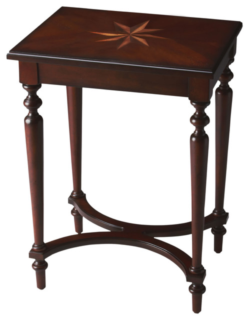 Tyler Plantation Cherry Accent Table Traditional Side Tables And End Tables By Navigation Bay