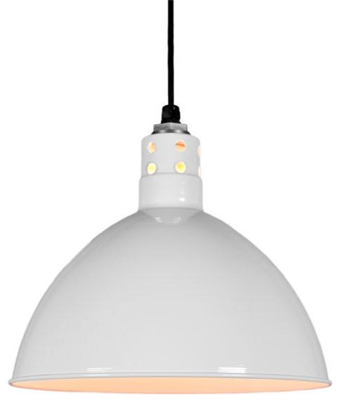 wesco vented cord hung pendant light industrial. Black Bedroom Furniture Sets. Home Design Ideas