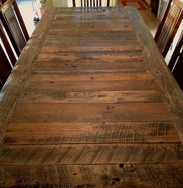 dubuc family rustic dining tables other metro by