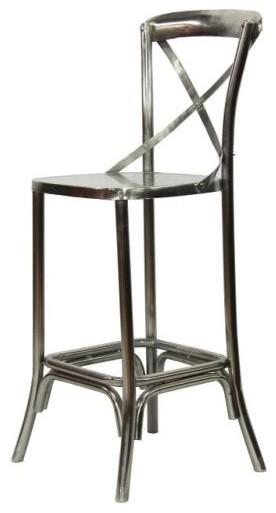 Modern Industrial Counter Stool With Nickel Finish  : industrial bar stools and counter stools from www.houzz.com size 276 x 513 jpeg 22kB