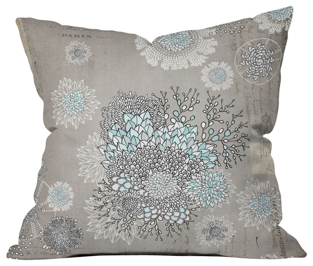 French Blue Throw Pillows : Iveta Abolina French Blue Outdoor Throw Pillow contemporary-outdoor-cushions-and-pillows