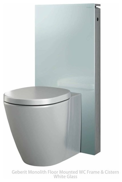 geberit monolith toilet frame and cistern in white glass contemporary toilets london by. Black Bedroom Furniture Sets. Home Design Ideas