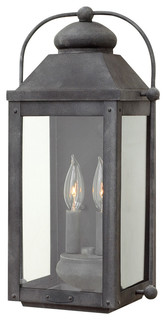 Hinkley Lighting  Anchorage Aged Zinc Outdoor Wall Sconce
