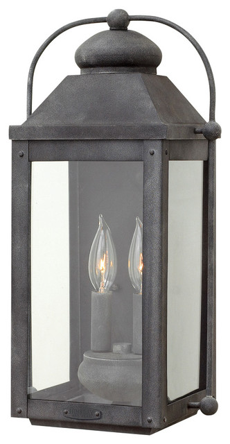 Hinkley Lighting 1854DZ Anchorage Outdoor Wall Light Aged Zinc Traditiona