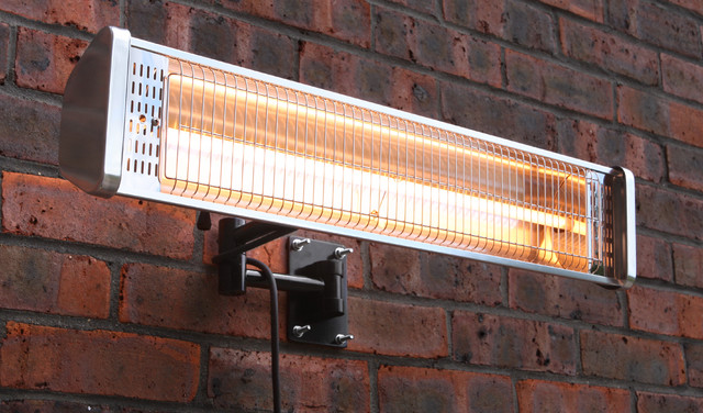 1.5KW Wall Mounted Electric Halogen Patio Heater (Single Heating Lamp)