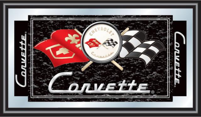 Corvette C1 Framed Mirror Black