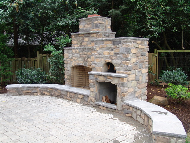 Pizza oven traditional patio portland by brown bros masonry - Outdoor stone ovens ...