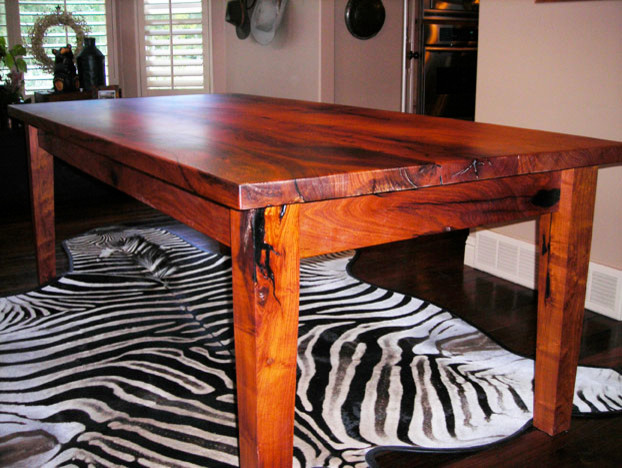 Mesquite dining room table
