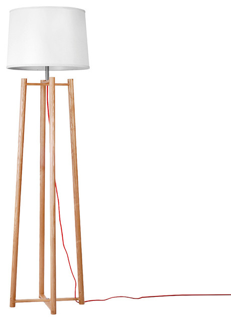 Simple Modern Style Wooden Floor Lamp With Creative Frame