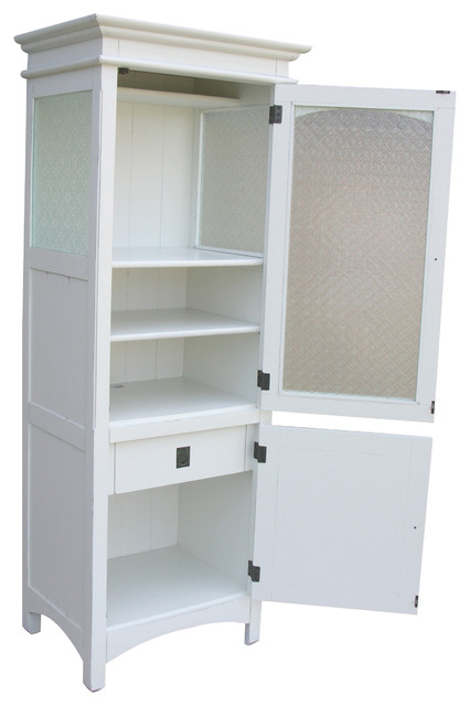 Cottage Dover Curio Cabinet, White - China Cabinets And Hutches - by Custom Furniture World