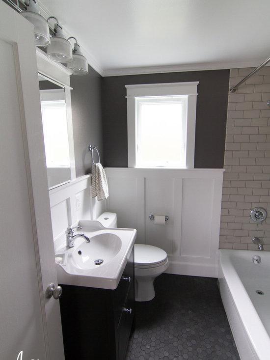 Small craftsman bathroom design ideas pictures remodel for Small craftsman bathroom design