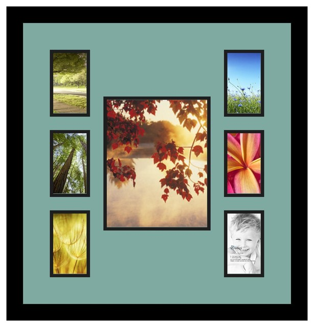 Arttoframes collage photo frame with 1 8x10 and 6 3x5 for 8x10 office design