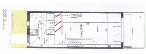 Besoin d 39 aide et d 39 id es pour am nagement salon cuisine - Idee plan maison en longueur ...