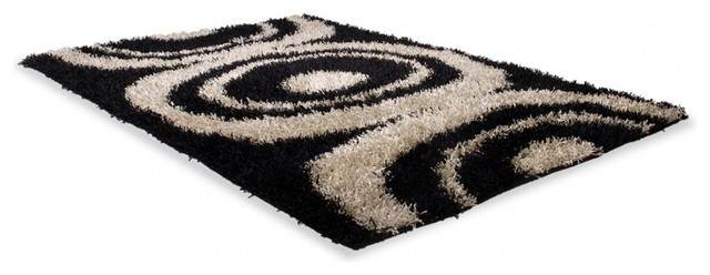 teppich semset schwarz wei 140x200 cm bauhaus look. Black Bedroom Furniture Sets. Home Design Ideas