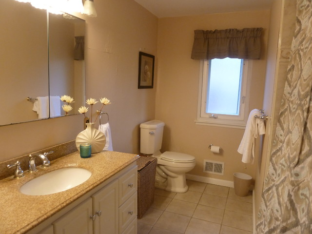 Split Level Ranch Traditional Bathroom New York By