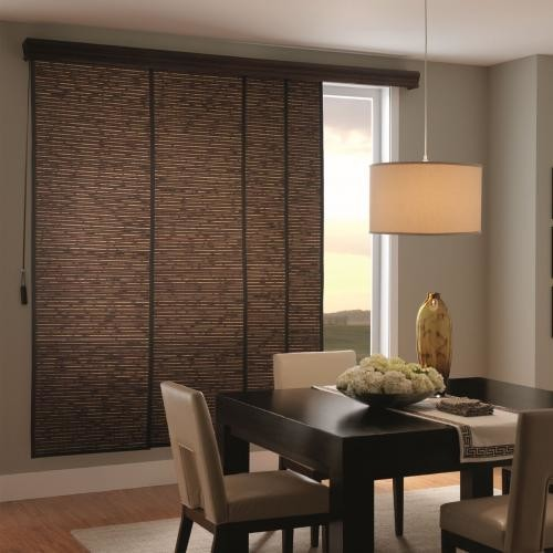 Bali Woven Wood Sliding Panels Contemporary Vertical Blinds Houston By