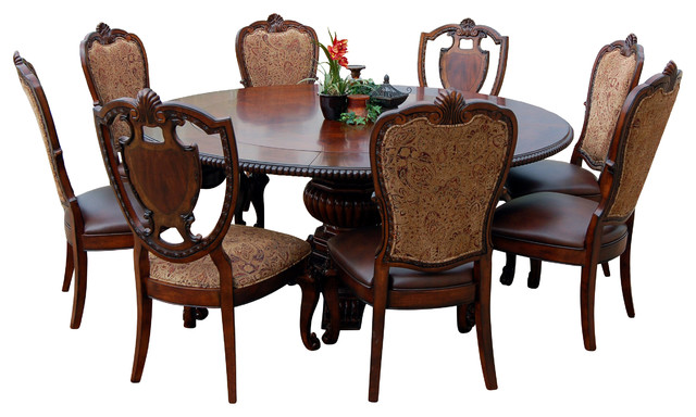 Old World Dining Set: 9 Piece Old World Dining Set 43202