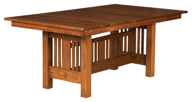 Dining room tables traditional dining tables detroit for Mission style kitchen table
