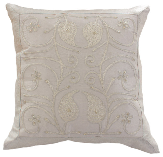 Eclectic Pillows : Decorative Pillow Covers - Eclectic - Decorative Pillows - boston - by Banarsi Designs