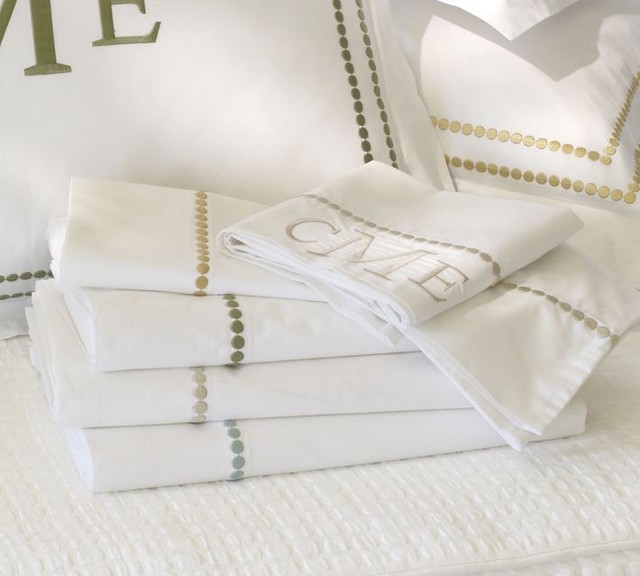 Pearl Embroidered Pillow Cases Traditional Pillowcases