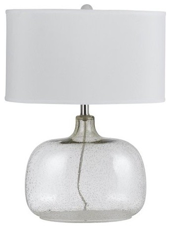 Cal Lighting BO-2262TB Christi 1 Light Clear Glass Table Lamp with 3