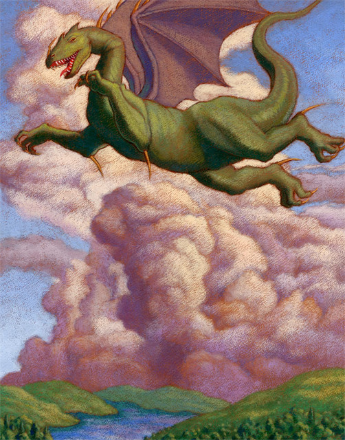 Summer dragon wall mural traditional wall stickers for Dragon wall mural