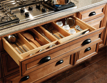 Base Drawer Partition Kit - Traditional - Kitchen Cabinetry - Other - by Merillat