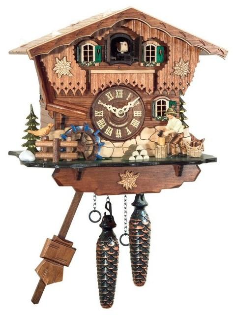 Black Forest Woodchopper Cuckoo Clock 408qm Contemporary Wall Clocks By Hayneedle