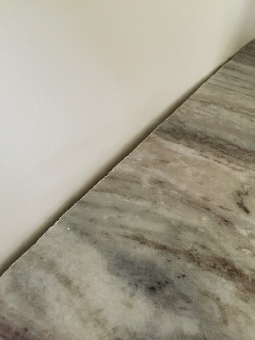 How To Correct A Gap Between Granite And Wall