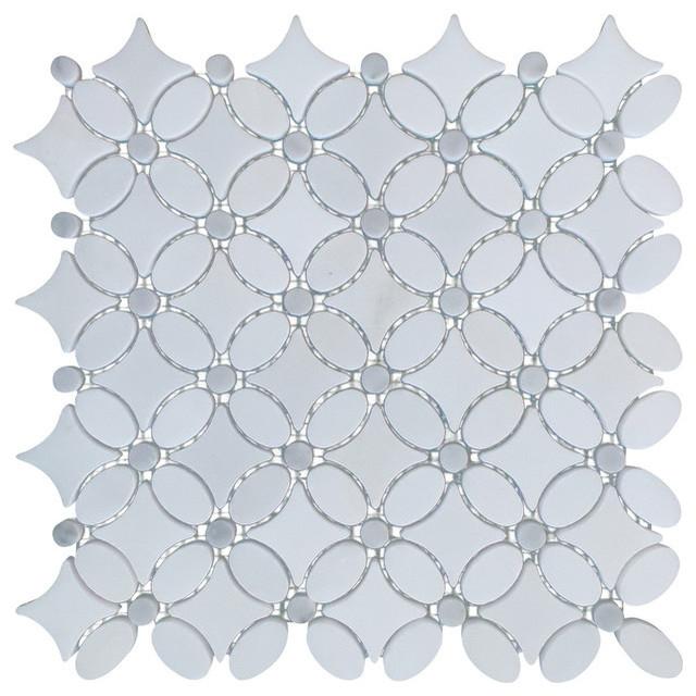 Kitchen Floor Tile Floral