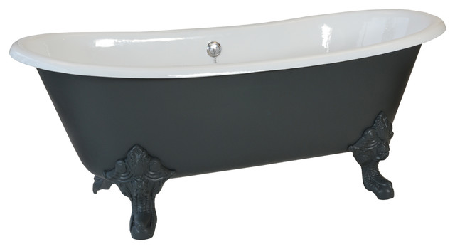 Newbury Traditional Back To Wall Roll Top Bath Suite At: Salcombe Roll Top Cast Iron Bath